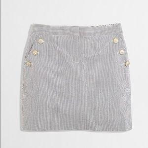 J. Crew | Navy & White Seersucker Mini Skirt